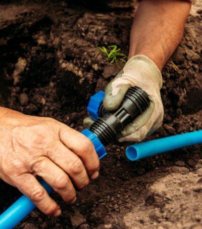 drainage-system-connection-garden-irrigation